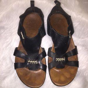 Merrell Sandals, Black Leather 9